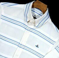 """⭐ Mens Vivienne Westwood premium cotton & linen striped shirt size medium 38"""""""
