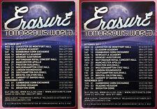 4 X ERASURE TOMORROW'S WORLD TOUR FLYERS