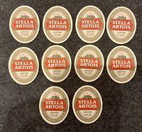 10 x Stella Artois Vintage Beer Mats -  Home Bar / Pub Experience