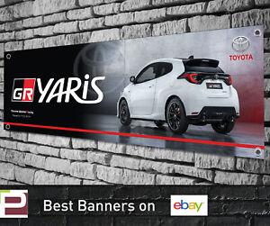 Toyota GR YARIS PVC Vinyl Banner for Garage, Workshop, TRD, Gazoo Racing etc