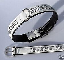 HUNTER Hundehalsband Swarovski Elements 42-50 weiß16750
