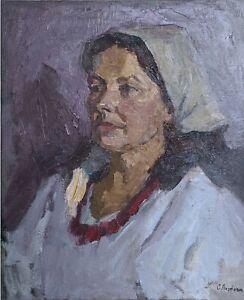 Woman FEMALE PORTRAIT IMPRESSIONIST ORIGINAL Oil Painting Genre painting Art