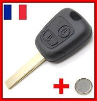 Coque Télécommande Plip Clé Bouton Peugeot 107 207 307 407 + Lame Rainurée 8mm