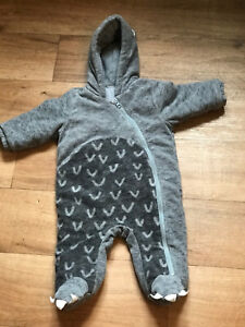 Baby Boys Dinosaur Fuzzy Fleece Bundle//All-In-One//Snowsuit