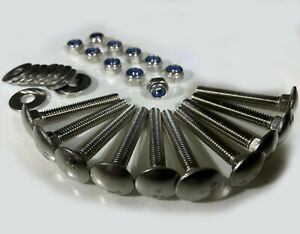 A4 Marine Grade Stainless Steel - Cup Square Carriage Bolts with NUTS & WASHERS