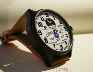 Apollo 11 First Moon Landing 50th Anniversary Watch, Armstrong, Aldrin, Collins.
