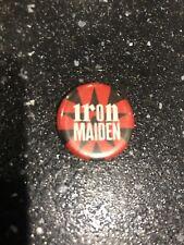 Vintage Badge IRON MAIDEN Music Band Pin , Kitsch , Retro, POP 80's