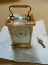 Carriage Clock. Fema London 11 Jewelled Movement. Worcester Faceplate Name.