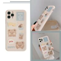 Cute Pastel Bubble Tea Bear Back Case For iPhone 8 XS XR 11 12 MINI PRO MAX