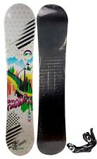 NEW $650 Womens Franck Future Toon Snowboard + Bindings 140CM Ladies Camber Ride