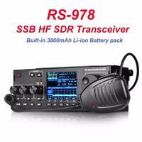 10W RS-978 SSB HF SDR HAM Transceiver Transmit  + 3800MAh Lion Battery