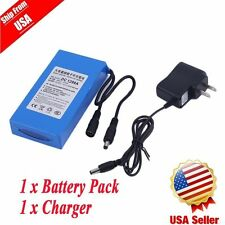 DC12V 9800mAh Super Rechargeable Portable Li-ion Battery US Plug Battery Pack B