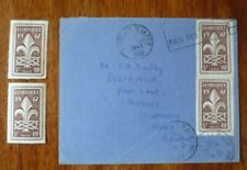 Postage stamps for the 1947 World Scout Jamboree - 2 unused and 2 used