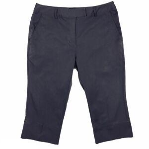 Adidas Gray Golf Pants Stretch Climacool Capris Women's Size 4 873555