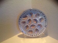 """M. B. F. A. PORNIC ARCACHON French midcentury 13"""" Master oyster plate VGUC"""