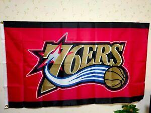 Philadelphia 76ers Large Logo Flag 3X5 FT NBA Banner Polyester FAST SHIPPING!!!