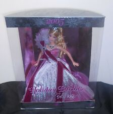 "HAPPY HOLIDAY BARBIE, BOB MACKIE ""2005"" NRFB, MINOR TLC TO BOX, ELEGANT DOLL!"
