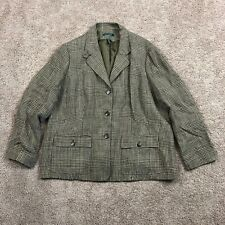 Womens Ralph Lauren Plaid Blazer. Size 20W