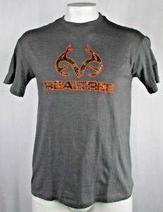 RealTree Men's Gray Short Sleeve T-Shirt