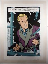 Blake & Mortimer Jacobs La Marque jaune Sérigraphie signée 1981 Comme neuf