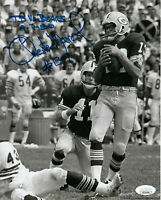 PACKERS Chester Marcol signed 8x10 photo w/ TD vs. Bears 9-7-80 AUTO Autographed