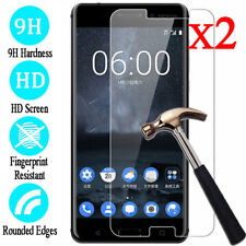 2Pcs 9H Tempered Glass Screen Protector Film Cover For Nokia 2 3 5 6 8 2017/2018