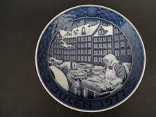 """Vintage Grande Porcelain Of Copenhagen 1977 Christmas Plate 7 1/8"""" Diameter"""
