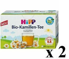 2 x Hipp Bio CAMOMILLE Santé Boire pour bébés 20 sacs