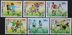 """Aserbaidschan: Michel-Nr. 140-145 """"Fußball-WM´94"""" aus 1994, gestempelt"""
