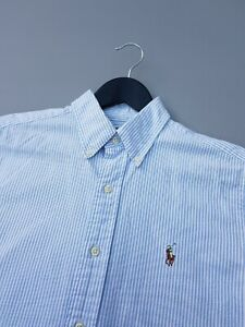 RALPH LAUREN OXFORD STRIPE SHIRT SMALL EXCELLENT CONDITION!