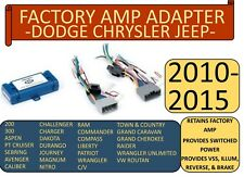 FACTORY AMP ADAPTER FOR 2005-2015 SELECTED RAM JEEP CHRYSLER DODGE VEHICLES
