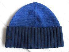 LACOSTE laine/cachemire bleu marine Cuff Beanie Hat Taille unique Tuque Unisexe Hommes Femmes