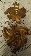 2 bobèches ou rosace bronze ou laiton accessoires pour lampe lustre 8,5 cm