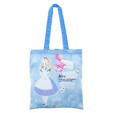 Japan Disney Eco Shopping Bag Tote Bag - Alice in the Wonderland Blue