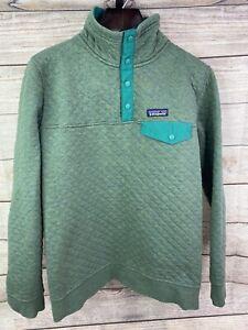 Medium Green Patagonia Women's Organic Cotton Quilt Snap-T Pullover