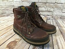 GEORGIA BOOT Giant Brown Leather Ankle Work Boots Men's 5 M