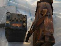 ancien téléphone  campagne EE8 militaire US 2 ième guerre(réhabilitation/pièces)