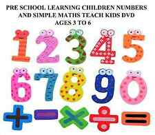 PRE SCHOOL LEARNING CHILDREN NUMBERS AND SIMPLE MATHS TEACH KIDS DVD AGES 3 TO 6