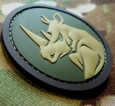 RHINO HEAD PVC TACTICAL MILITARY MORALE USA ISAF ARMY MULTICAM HOOK PATCH