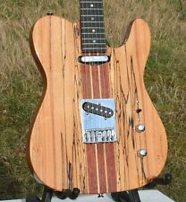 Muy elegantes Weller telemática, macizo spalted Maple + caoba, neck Thru, Grover