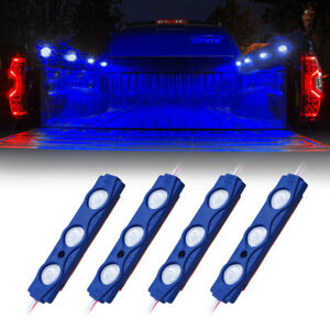 Xprite 4 Pods LED Rock Lights Kit Underglow Car Truck Pickup Bed Lighting Strips