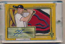 FREDDIE FREEMAN Gold Auto Logo Patch Jersey Card #1/1 - 2014 Topps SUPREME SCOPE