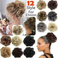 Thick Curly Messy Bun Synthetic Hair Piece Scrunchie Natural Hair Extensions