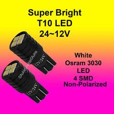 2 x T10 24V~12V LED Interior Car Auto Osram 3030 4SMD Bulb White Dome Lights