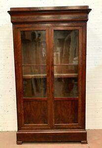 V itrine d'époque Louis Philippe en acajou deux portes vitrées XIX siècle