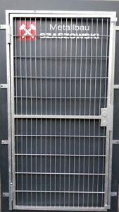 Gittertür Feuerverzinkt Einbruchschutz auf Maß - Modell Stabgitter