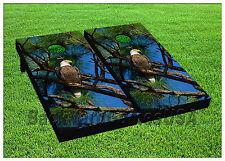 VINYL Patriotic American Bold Eagle CORNHOLE BEANBAG Boards 1031