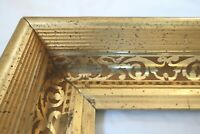 "Antique Fits 8 x 10"" Gold Gilt Picture Frame Stencil Wood Gesso Fine Art Country"