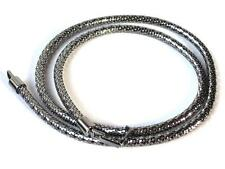 """new $375 GUCCI silver pewter LOGO buckle snake chain Belt 75 cm 30 """"  - gorgeous"""