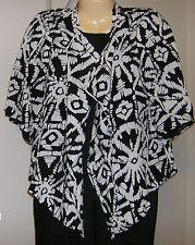 Neiman Marcus Pant Set Jacket Pants Tank NWT Size XL  Black Ivory 3 Pieces